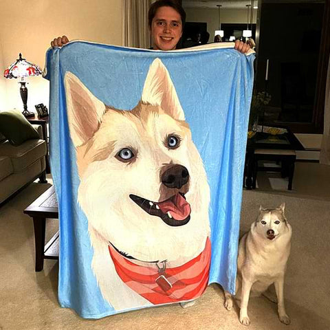 ▶ Custom Pet Blanket (Premium Mink Sherpa)