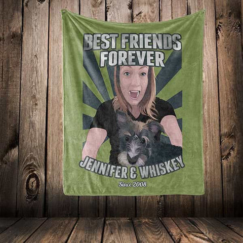 "▶ Best Friends Blanket ""Best Friends Forever"""