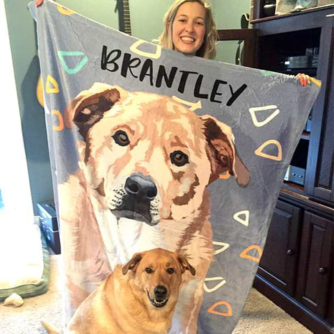 Image of ▶ Custom Pet Fleece Blanket