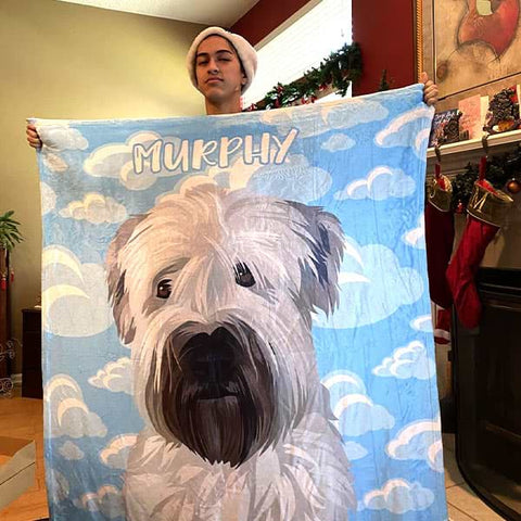 ▶ Custom Pet Blanket (Fleece)