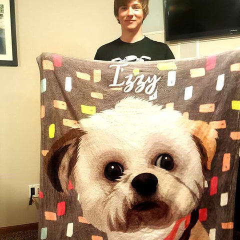 Image of custom pet blanket