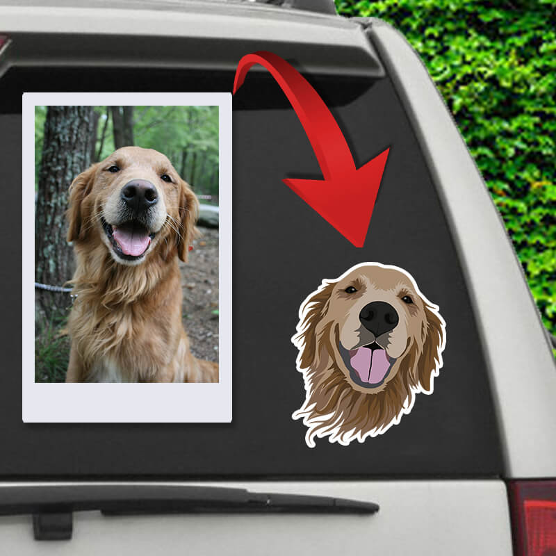 ▶ Custom Pet Sticker (Die Cut)