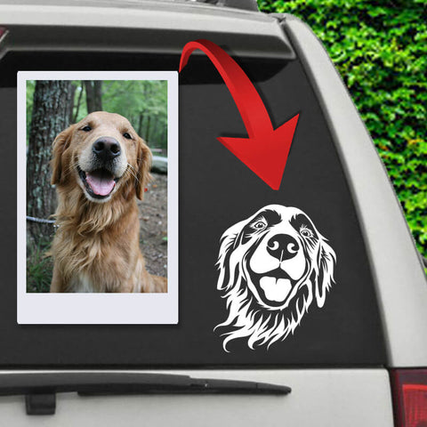 Image of ▶ Custom B&W Car Decal (Single Pet)