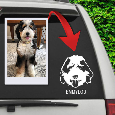 Image of ▶ Custom Pet Car Decal