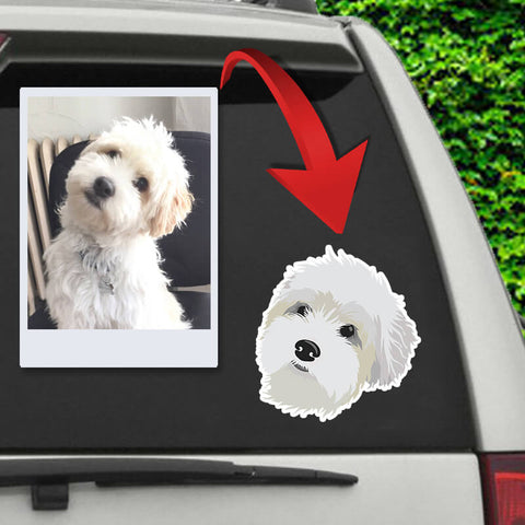 Image of ▶ Custom Pet Sticker (Die Cut)