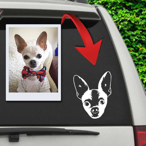 Image of ▶ Custom Pet Car Decal Sticker