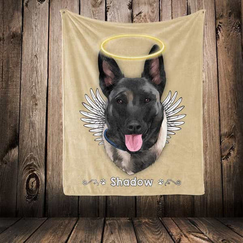 "Image of ▶ Pet Memorial Blanket ""Halo & Wings"""