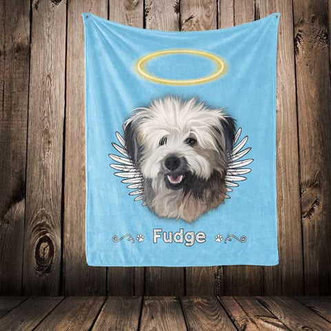 "▶ Pet Memorial Blanket ""Halo & Wings"""