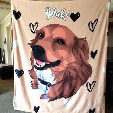 Image of ▶ Custom Pet Blanket (Fleece)