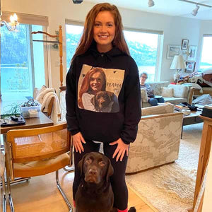 ▶ Men's / Women's Custom Pet Hoodie (BLACK)