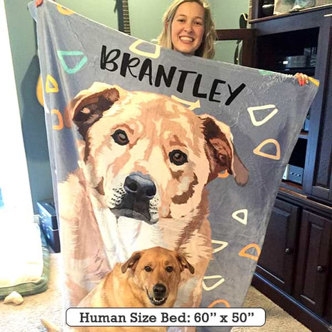 Image of Custom Pet Fleece Blanket [Top Seller]