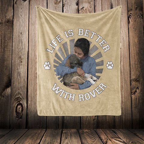 "Image of ▶ Best Friends Blanket ""Life Is Better With"""