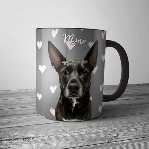 Image of ▶ Custom Pet Coffee Mug (Color Accent)