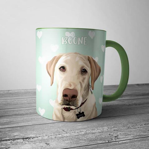▶ Custom Pet Coffee Mug (Color Accent)
