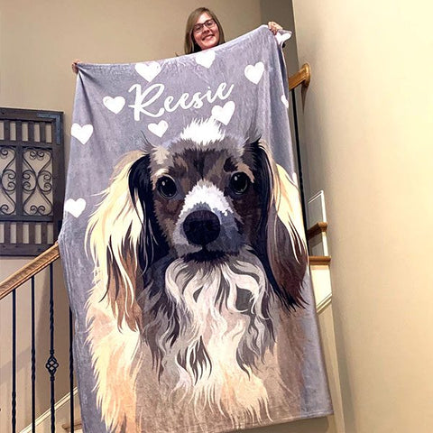 ▶ Custom Pet Fleece Blanket