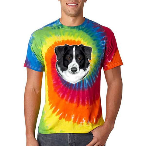 Image of ▶ Unisex Rainbow Tie Dye T-shirt (Color Art)