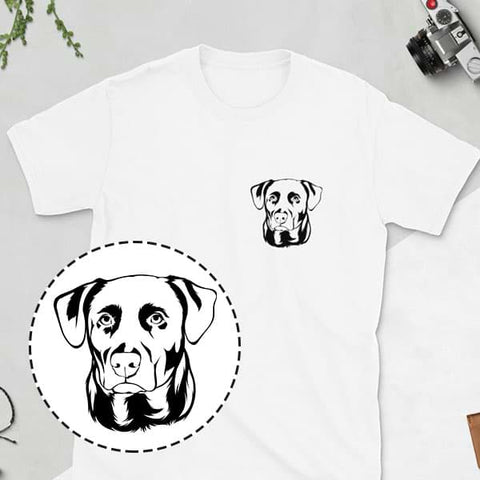 ▶ Men's Pet T-shirt (Black Pocket Design)
