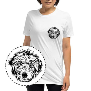 ▶ Women's Pet T-shirt (Black Pocket Design)