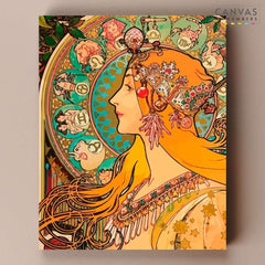 Canvas by Numbers Alphonse Mucha
