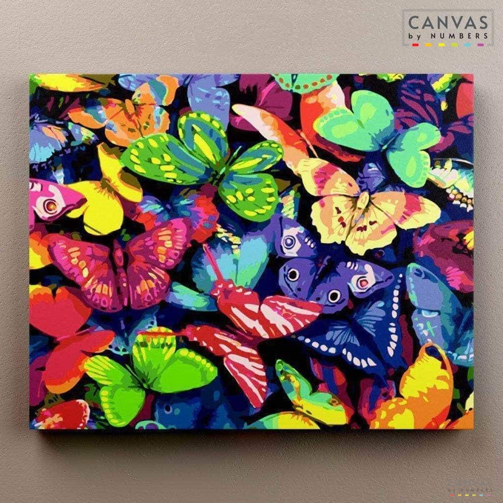 Todo Mariposas- Pintar por Números- Canvas by Numbers