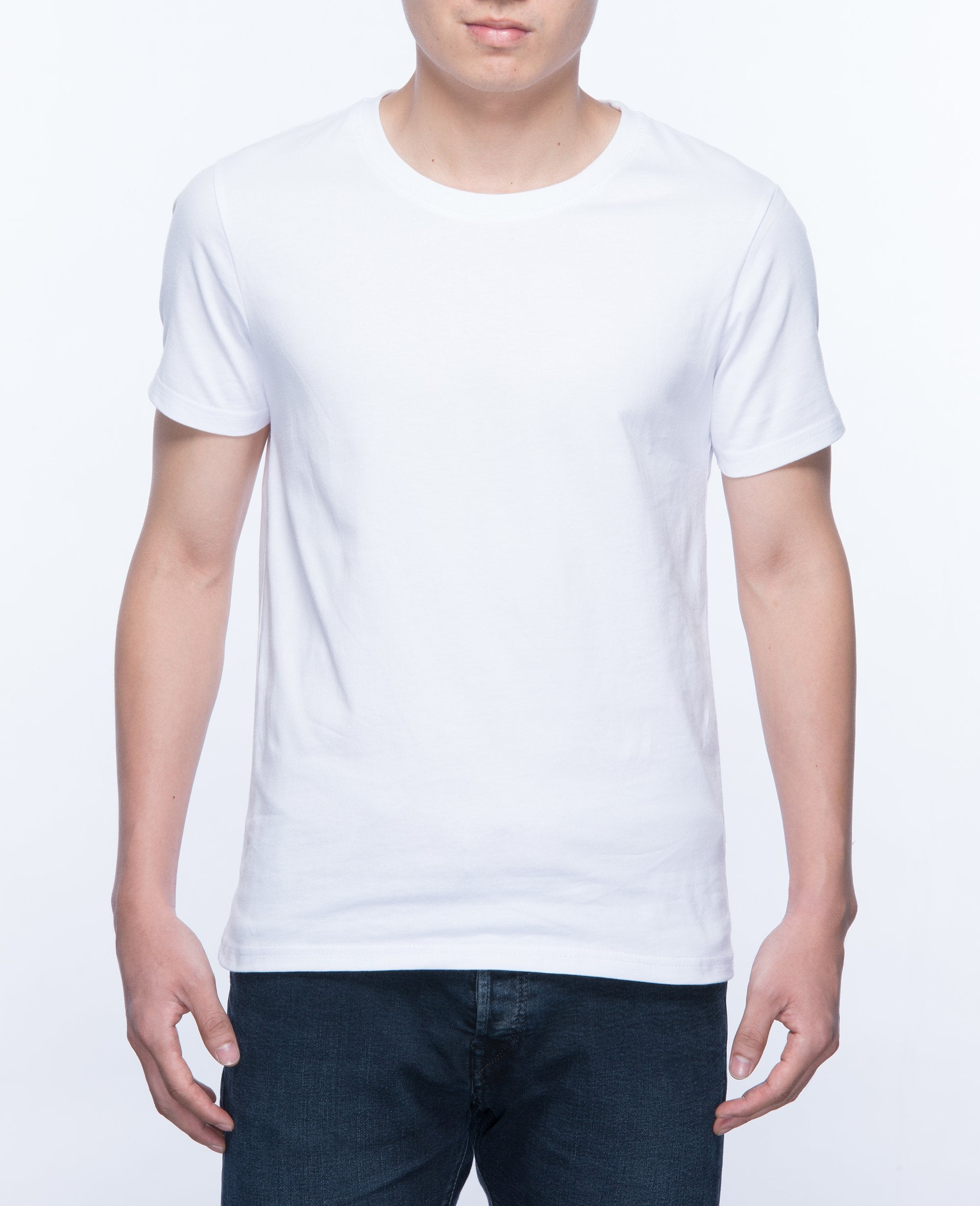 Basic T-shirt Men in White - T-Shirts - BRANMA - BRANMA
