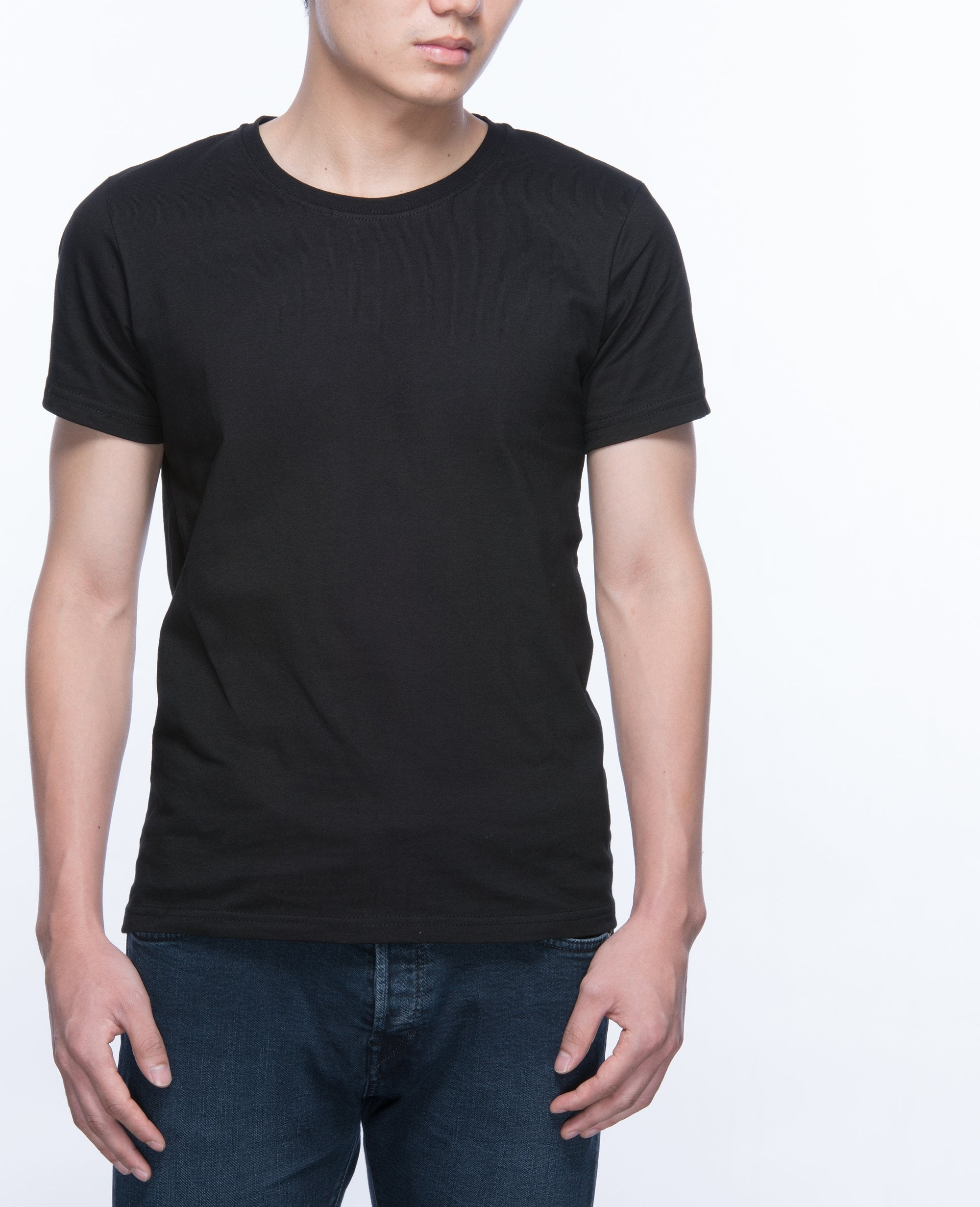 Basic T-shirt Men in Black - T-Shirts - BRANMA - BRANMA