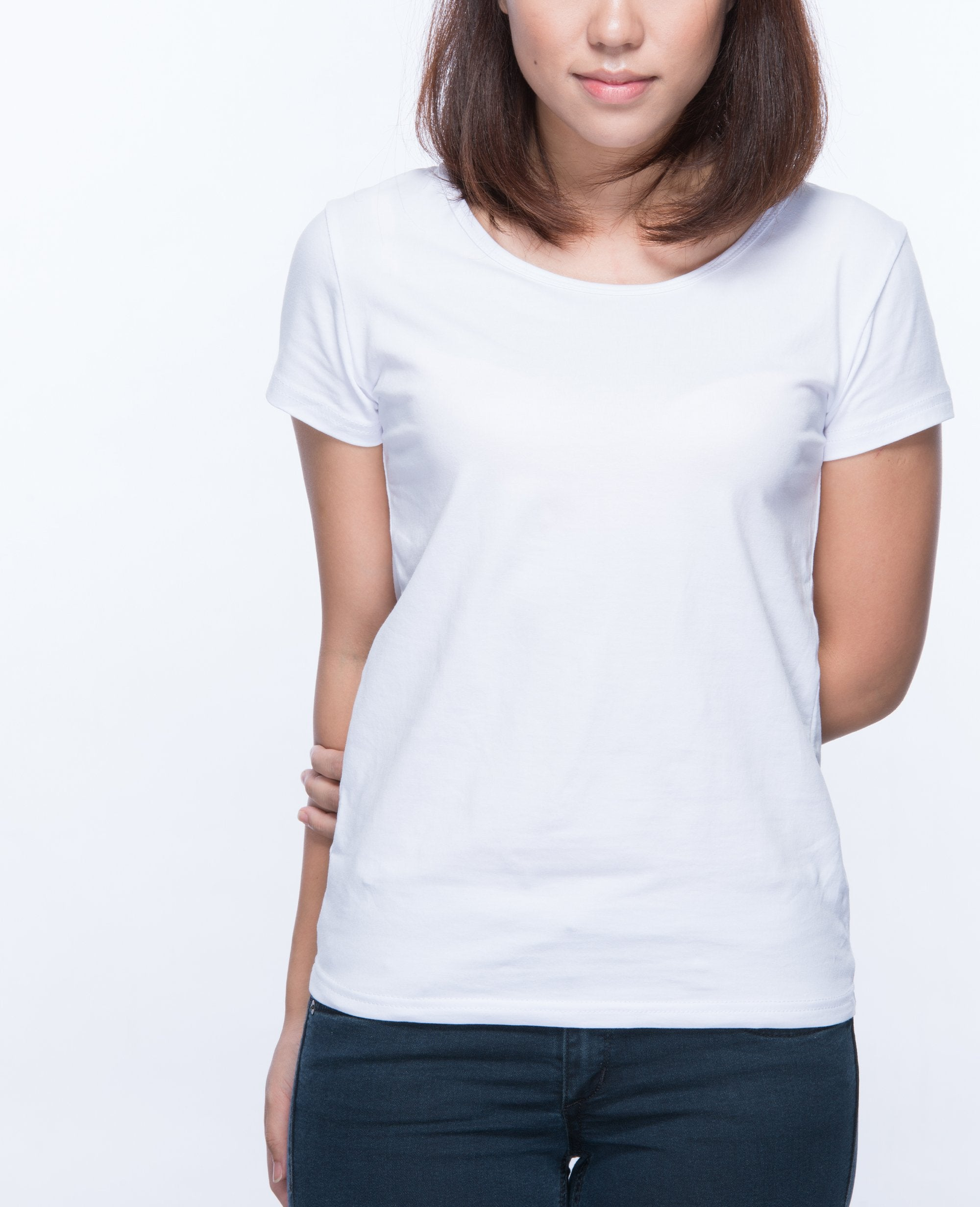 Slim fit T-shirt Women in White 5 pack - T-Shirts - BRANMA - BRANMA