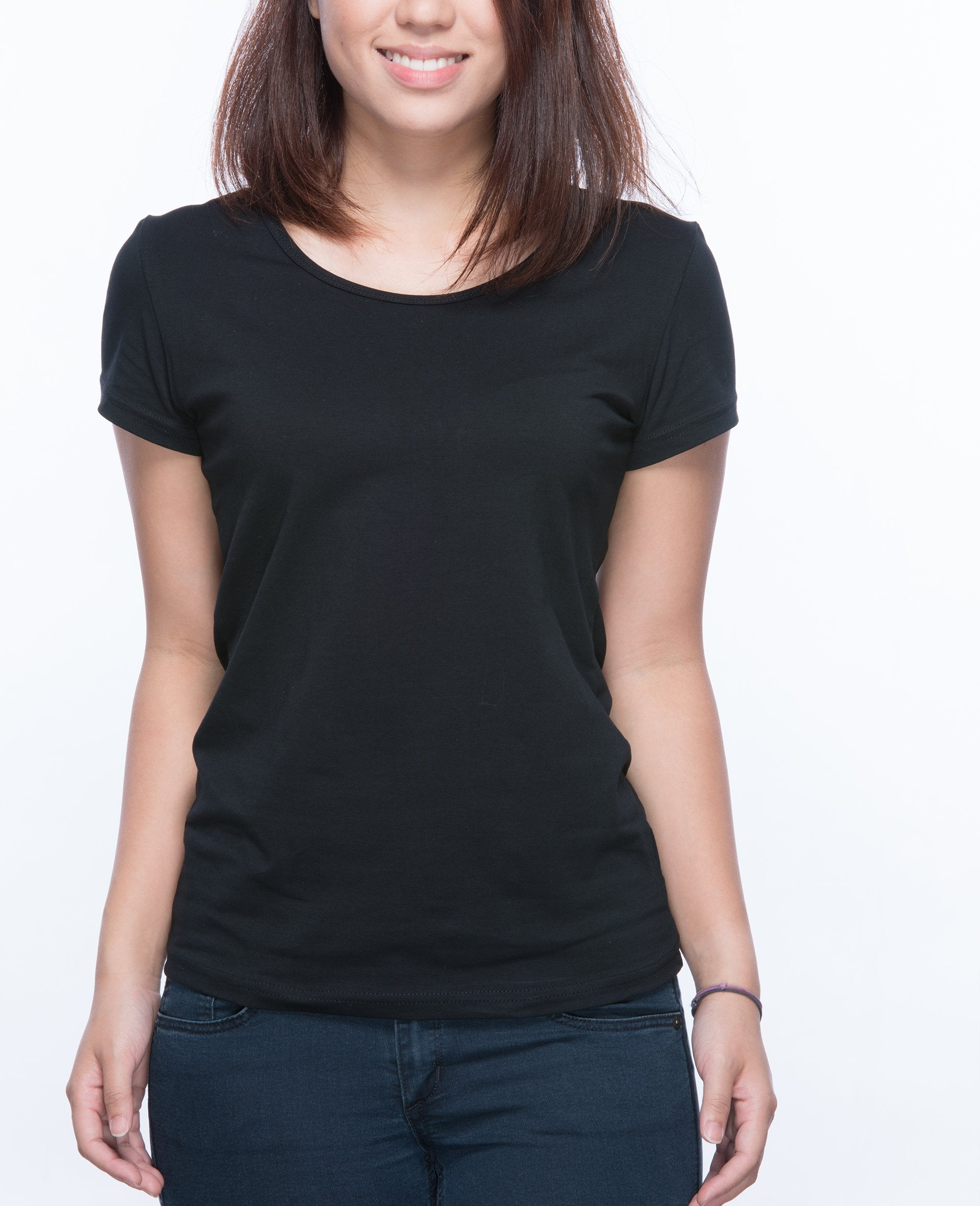 Slim fit T-shirt Women in Black - T-Shirts - BRANMA - BRANMA