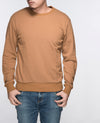 Unisex Basic Sweatshirt in Light Brown - Sweater - BRANMA - BRANMA