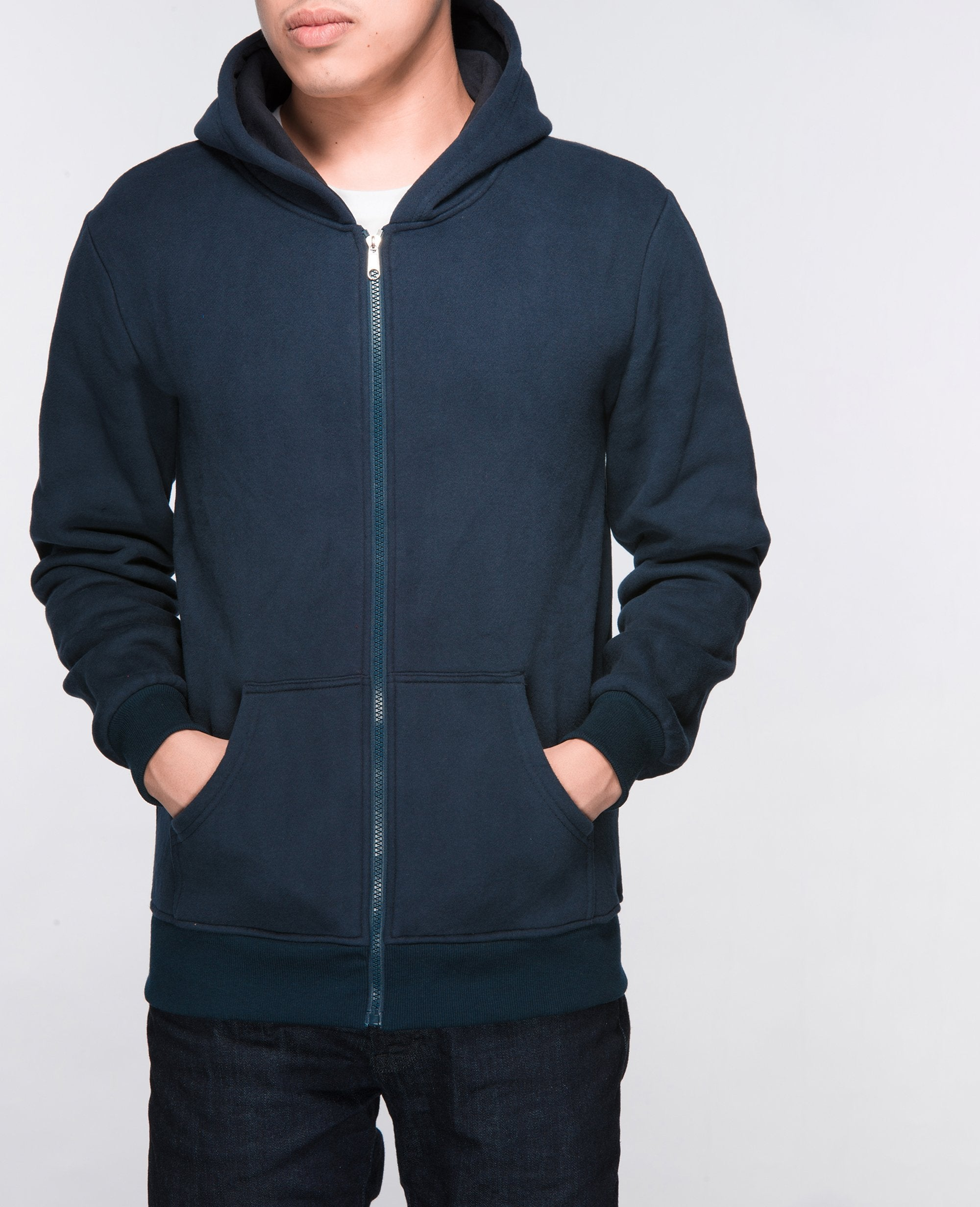 Unisex Basic Hoodies in Navy - Hoodies - BRANMA - BRANMA