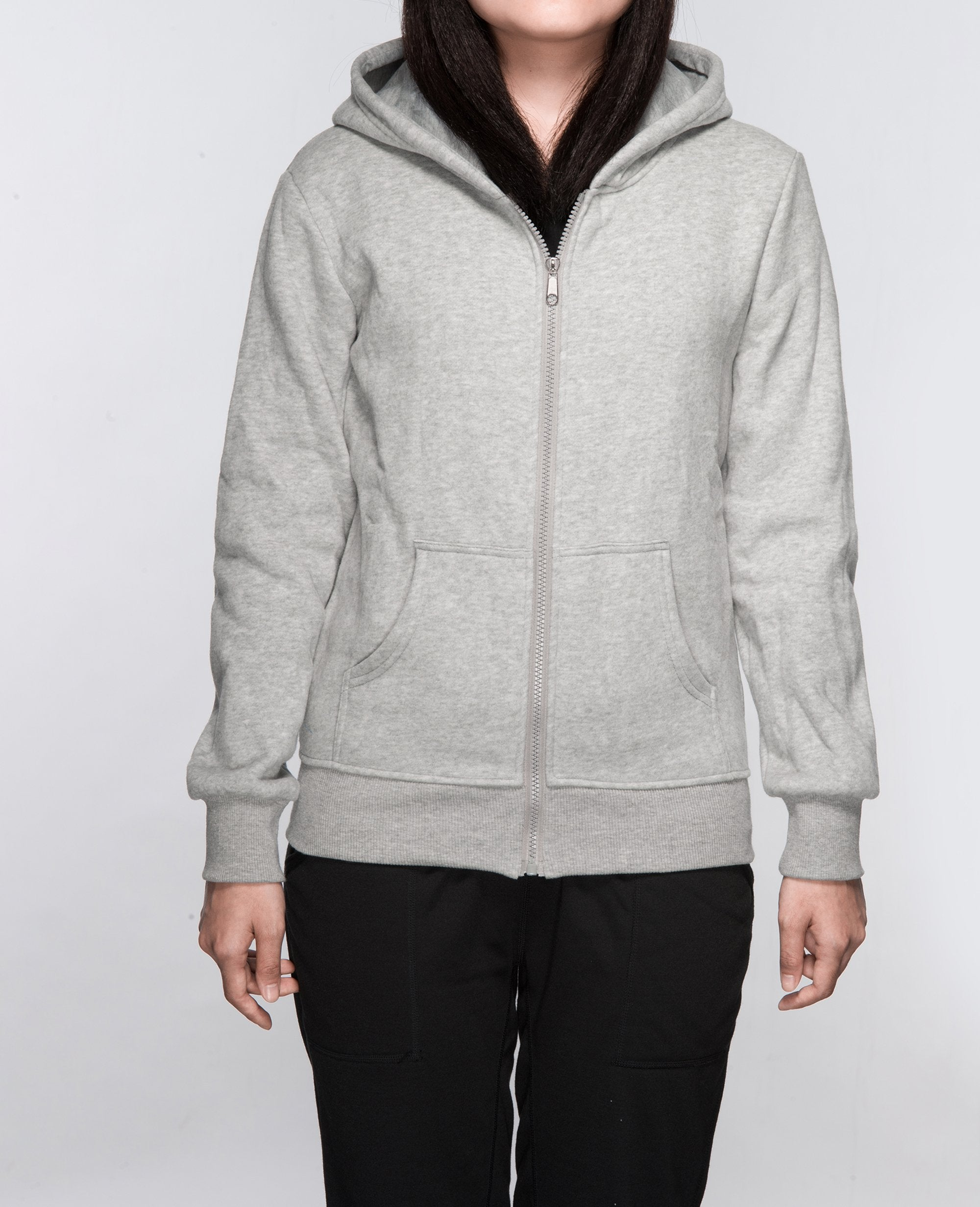 Unisex Basic Hoodies in Gray - Hoodies - BRANMA - BRANMA