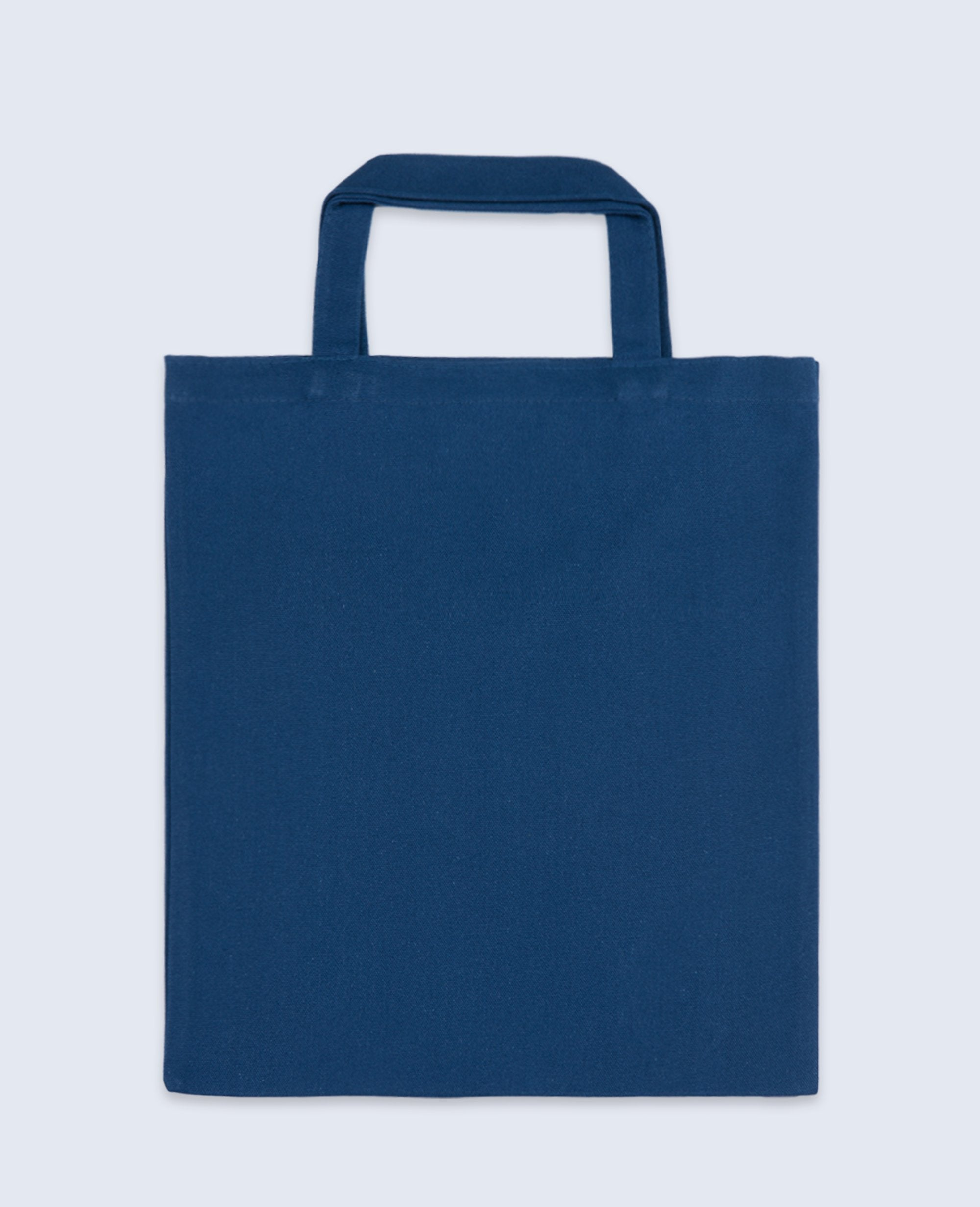 Short Handle Tote bag in Navy - Tote bags - BRANMA - BRANMA