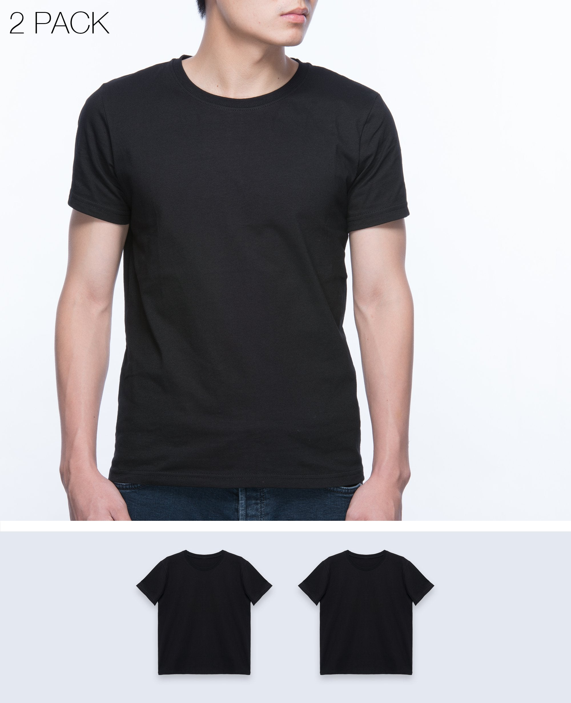 Basic T-shirt Men in Black 2 pack - T-Shirts - BRANMA - BRANMA