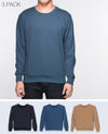 Unisex Basic Sweatshirt in Black / Navy / Light Brown 3 pack - Sweater - BRANMA - BRANMA