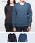 Unisex Basic Sweatshirt in Black / Navy 2 pack