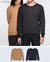 Unisex Basic Sweatshirt in Black / Light Brown 2 pack