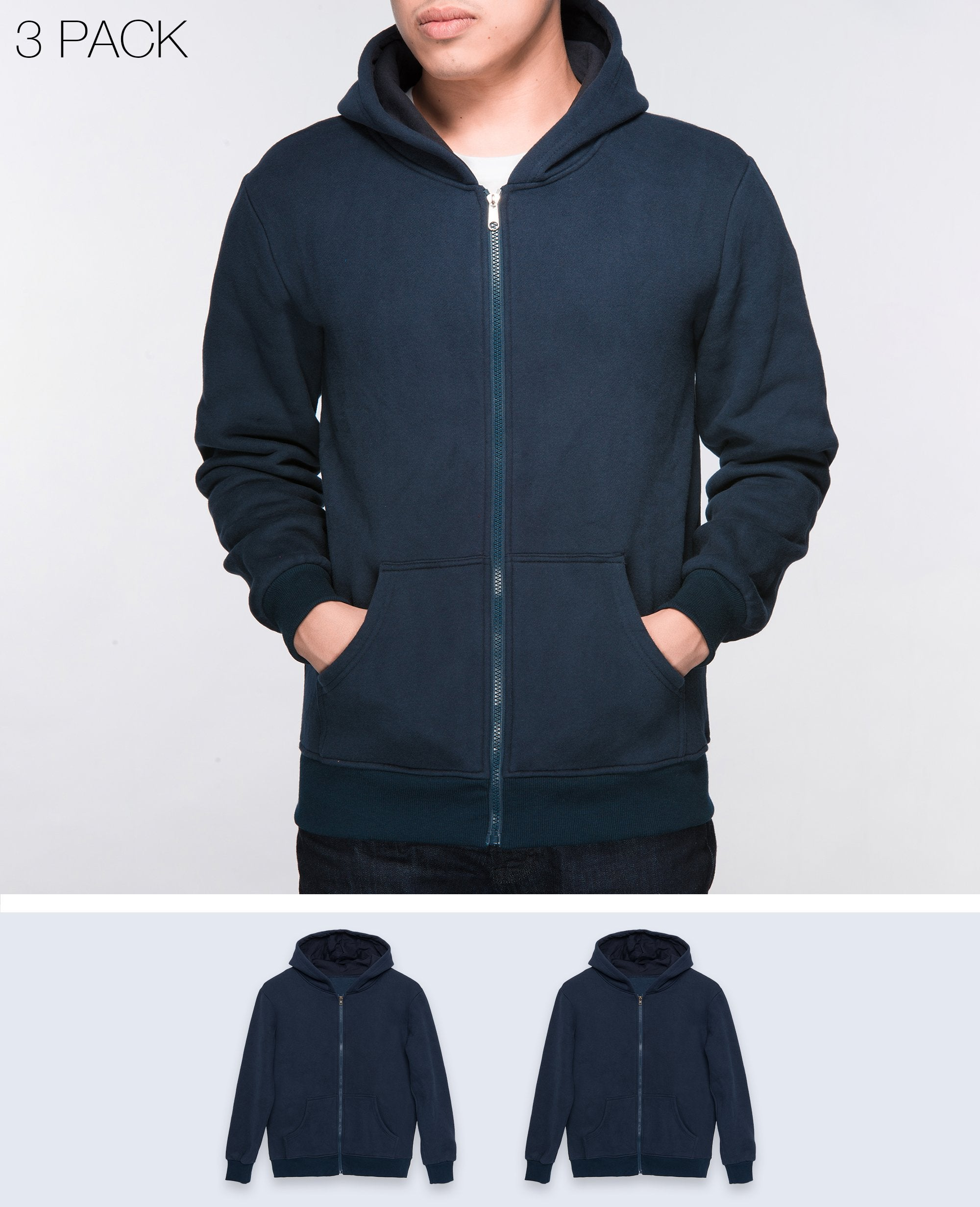 Unisex Basic Hoodies in Navy 2 pack - Hoodies - BRANMA - BRANMA