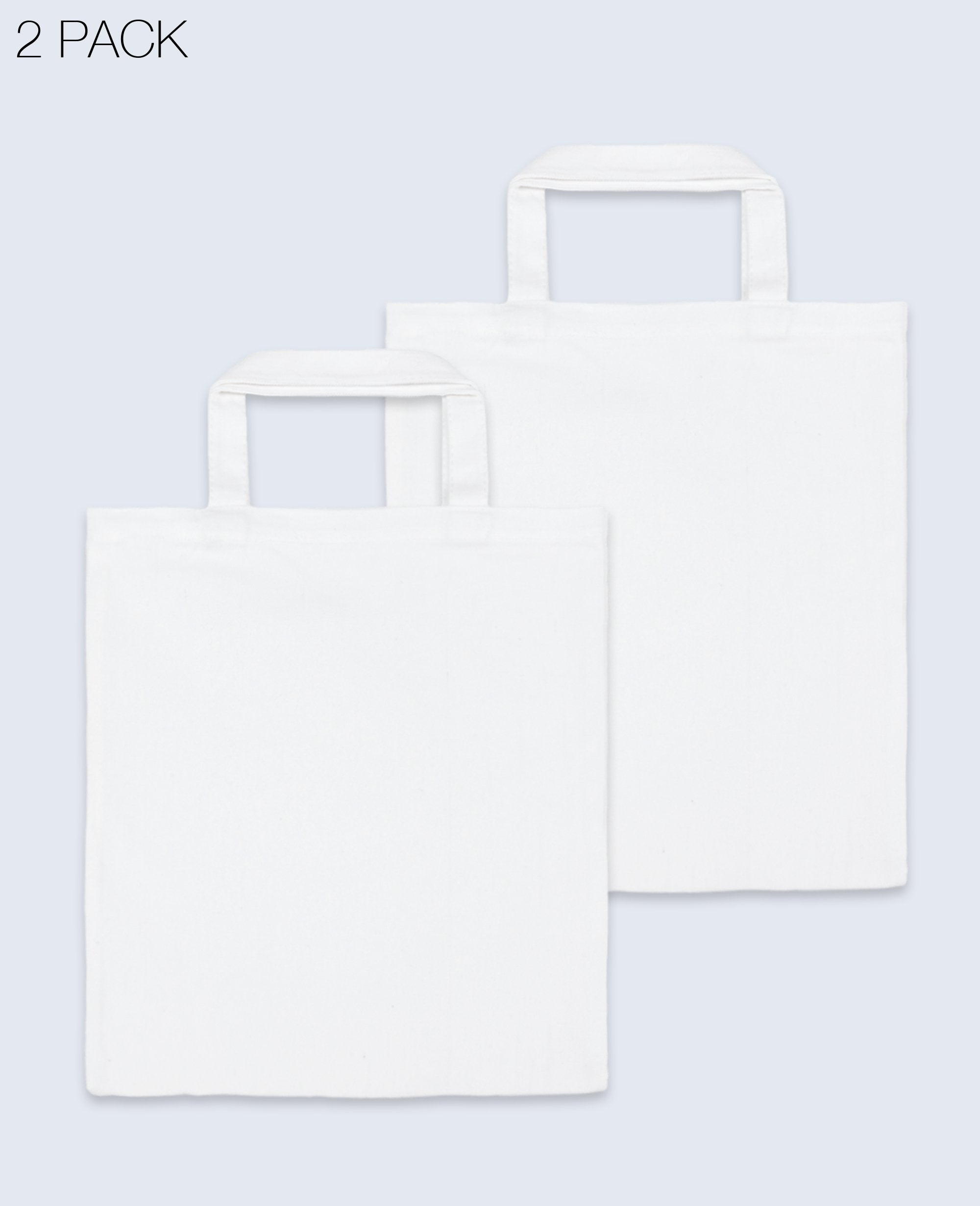 Short Handle Tote bag in White 2 pack - Tote bags - BRANMA - BRANMA