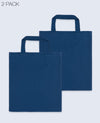 Short Handle Tote bag in Navy 2 pack - Tote Bag - BRANMA - BRANMA