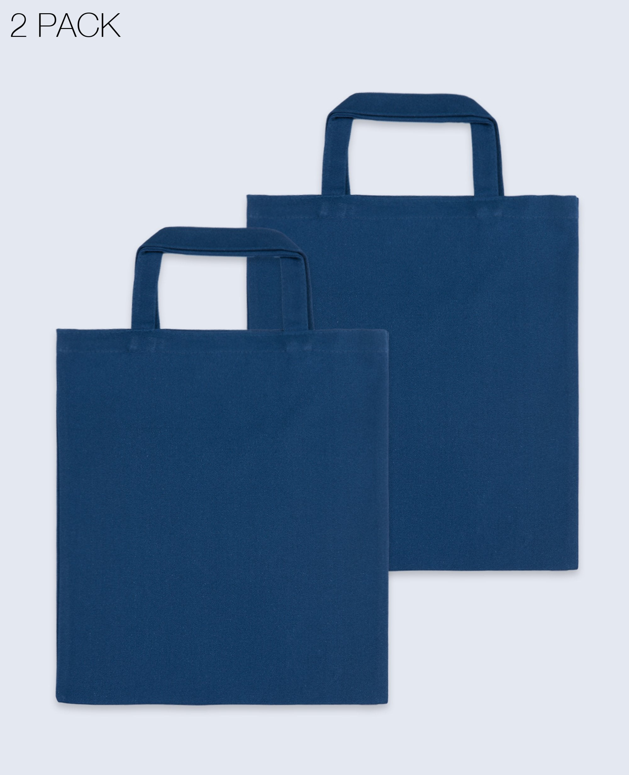 Short Handle Tote bag in Navy 2 pack - Tote bags - BRANMA - BRANMA