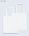 Long Handle Tote bag in White 2 pack - Tote Bag - BRANMA - BRANMA