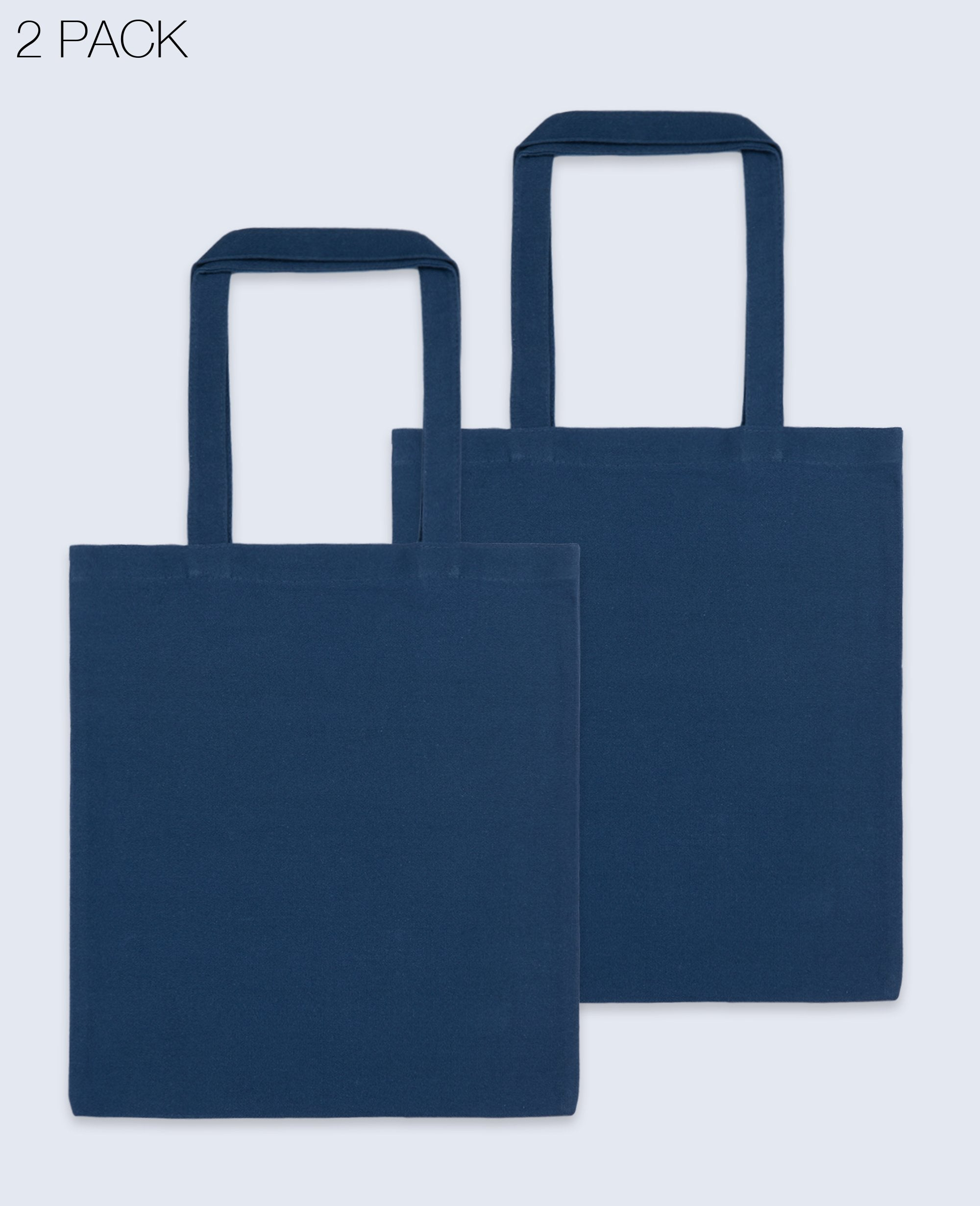Long Handle Tote bag in Navy 2 pack - Tote bags - BRANMA - BRANMA
