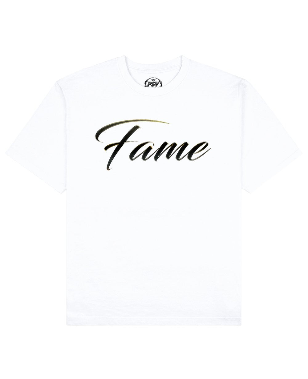 Fame Print T-Shirt in White - T-Shirts - PSV - BRANMA