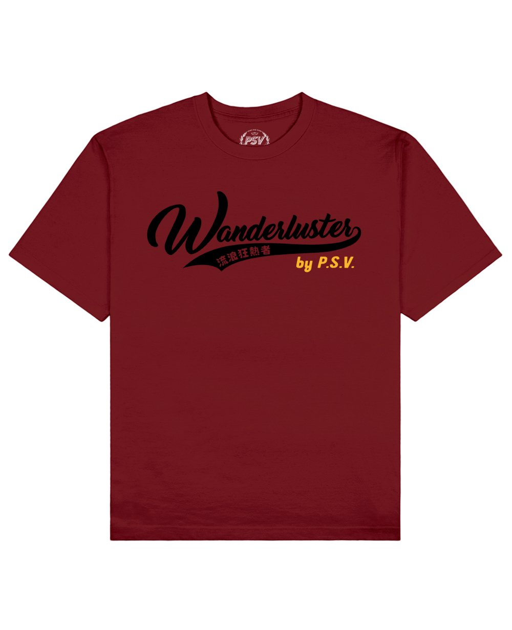 Wanderluster Print T-Shirt in Red - T-Shirts - PSV - BRANMA