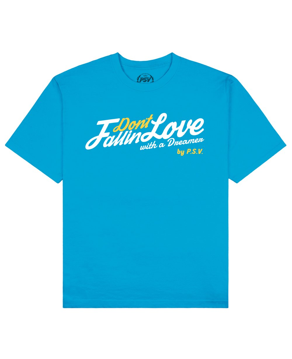 Phrase Quote Print T-Shirt in Blue - T-Shirts - PSV - BRANMA