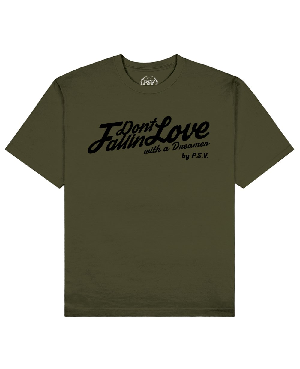 Phrase Quote Print T-Shirt in Khaki - T-Shirts - PSV - BRANMA