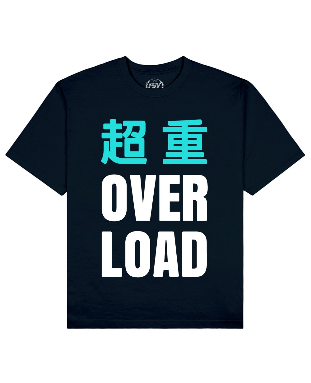 Overload Print T-Shirt in Navy - T-Shirts - PSV - BRANMA