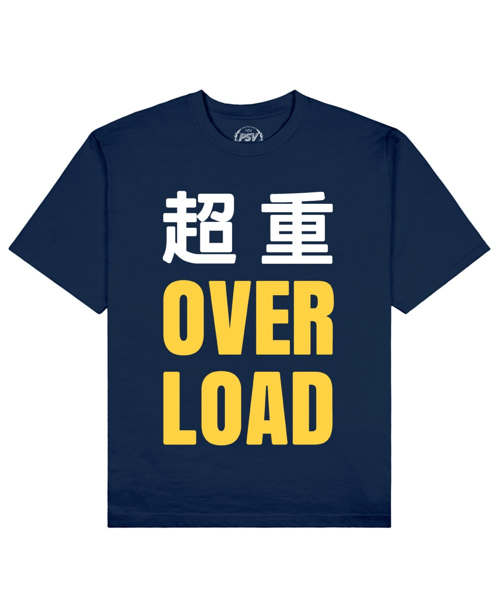 Overload Print T-Shirt in Blue - T-Shirts - PSV - BRANMA
