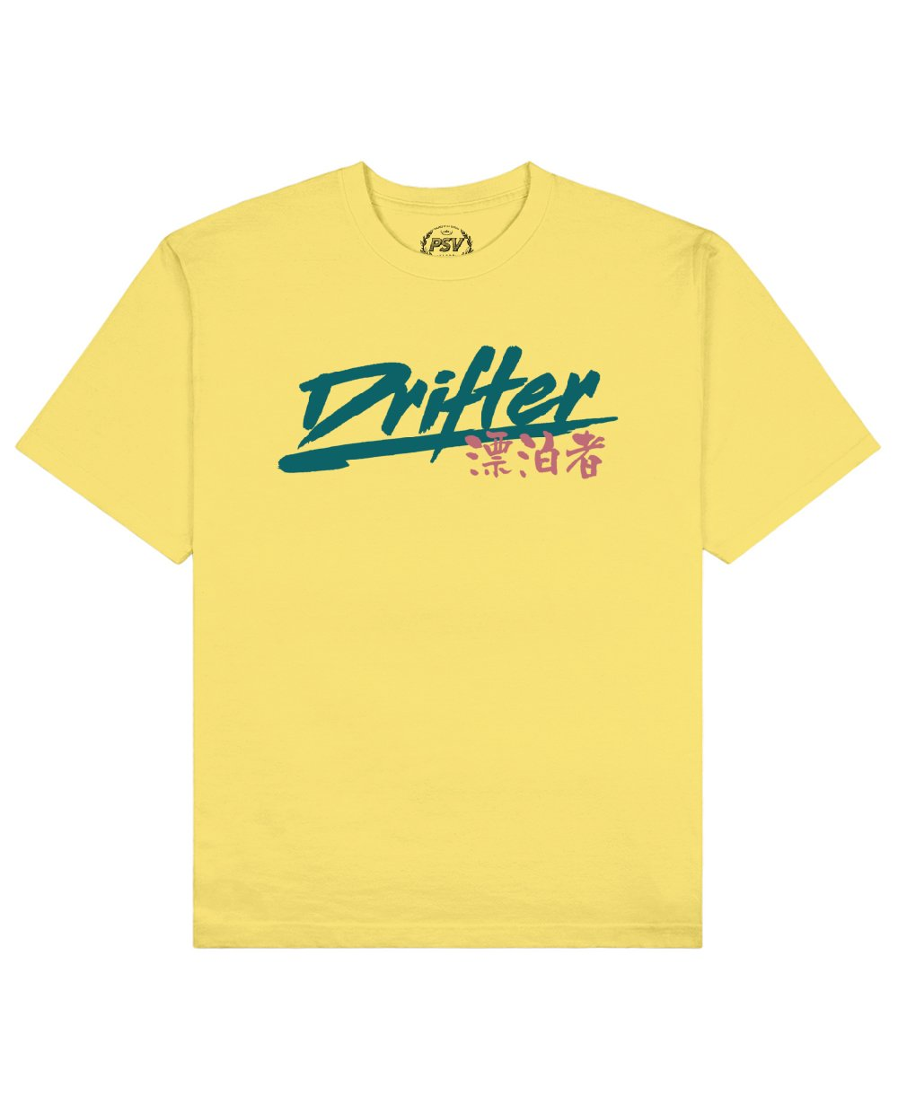 Drifter Print T-Shirt in Light Yellow - T-Shirts - PSV - BRANMA
