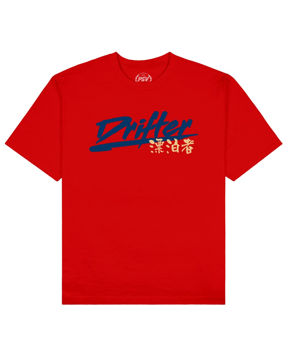 Drifter Print T-Shirt in Red - T-Shirts - PSV - BRANMA